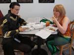 Sushi time with Loki and Aquaman