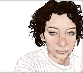 Dark haired self portrait