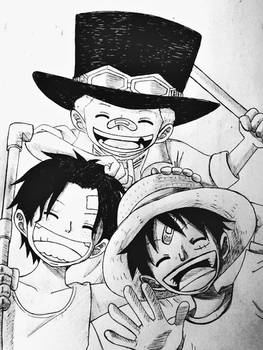 Ace, Sabo and Luffy
