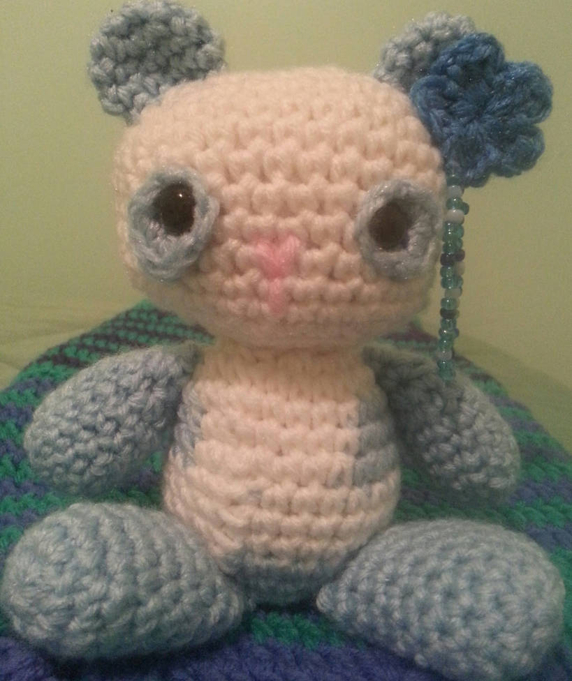 Ming! the blue panda plushy (sold) by Untraceablemystic