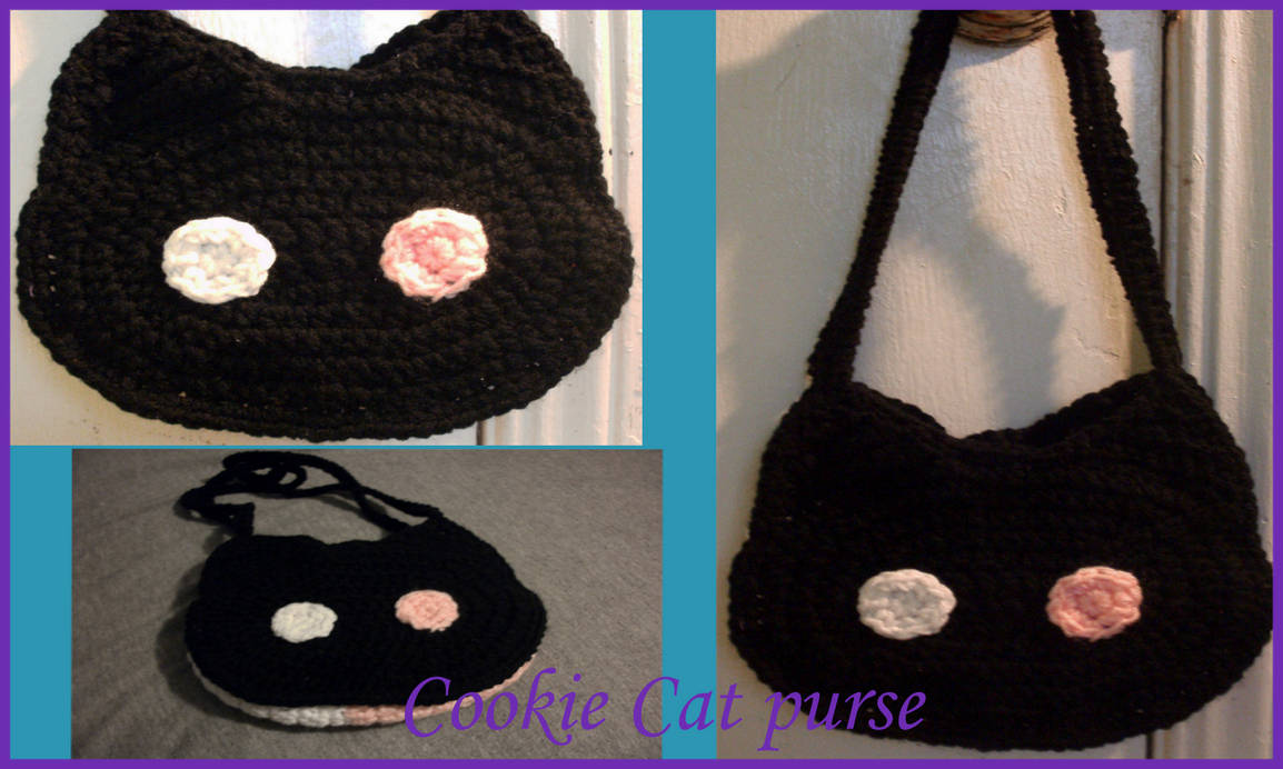 Cookie Cat purse (for sale) by Untraceablemystic