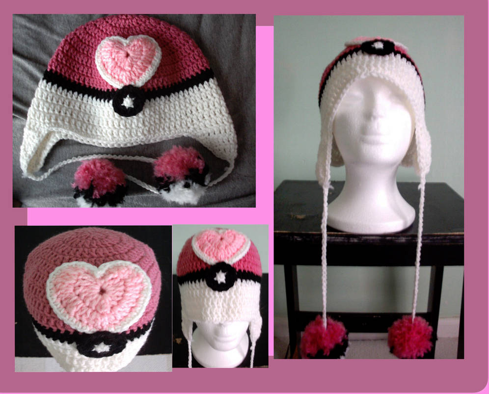 Loveball ear flap hat (sold but can be requested) by Untraceablemystic