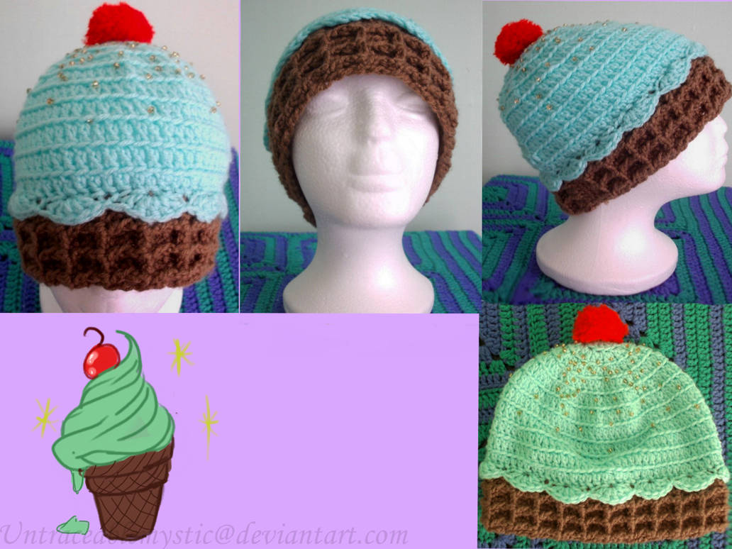 Minty Ice cream hat (On sale) by Untraceablemystic