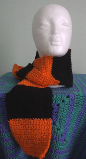 Halloween scarf (On sale) by Untraceablemystic