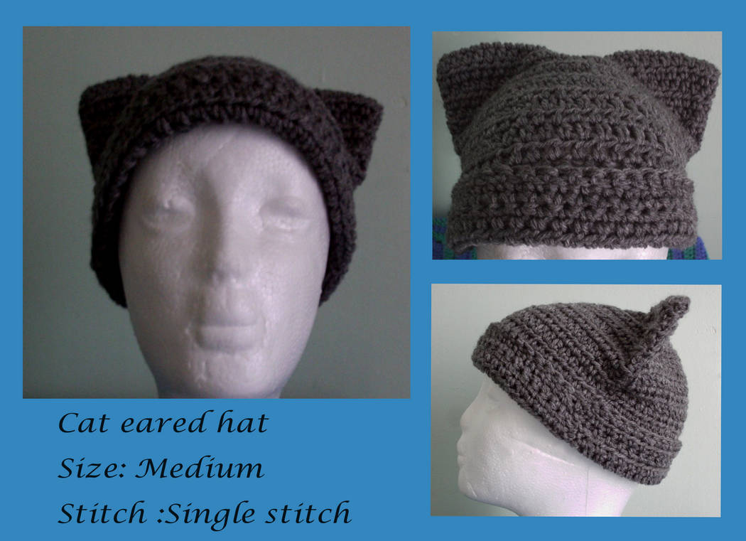 Darling cat eared hat (On sale) by Untraceablemystic