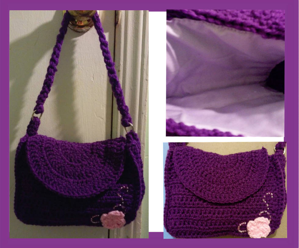 Plum blossom bag with beaded accent (on sale) by Untraceablemystic