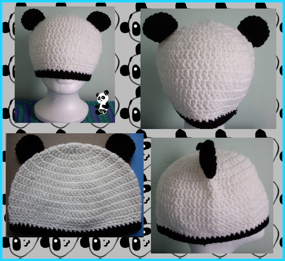 Panda beanie (Available ) by Untraceablemystic