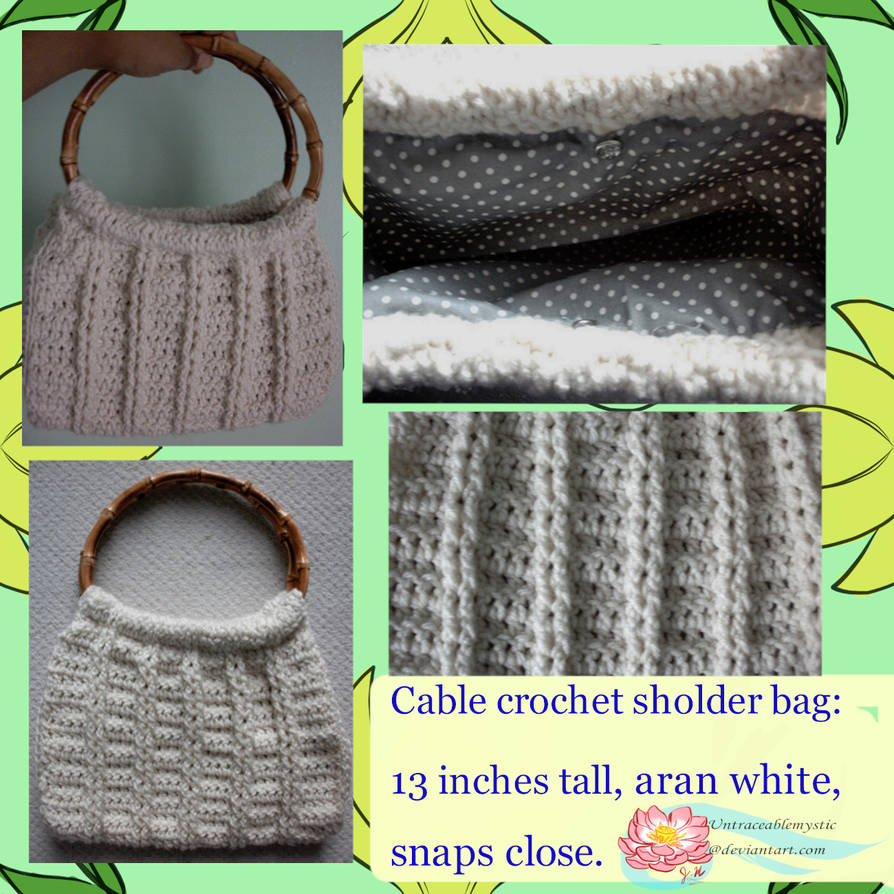 Cable stitch purse (on sale) by Untraceablemystic