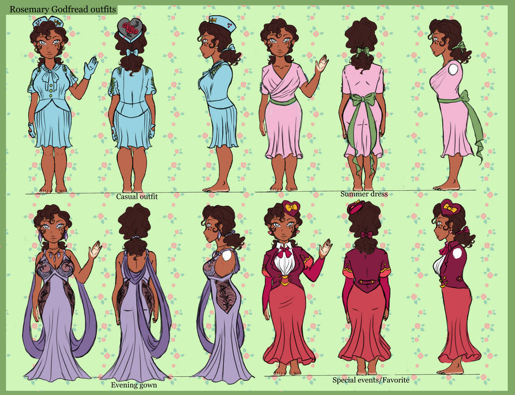 Outfits For Rosy by Untraceablemystic