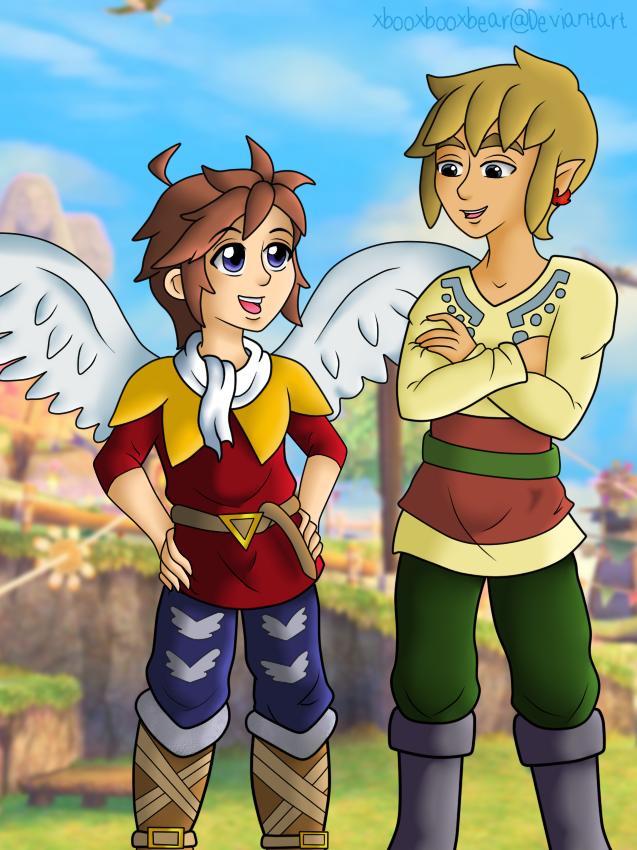 Angel in Skyloft by xBooxBooxBear