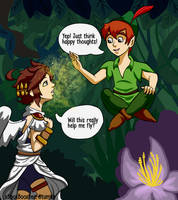 Peter Pan and Pit by xBooxBooxBear