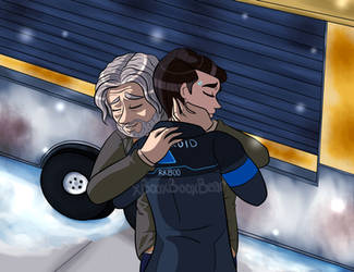 Hank And Connor by xBooxBooxBear