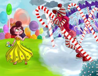Candyland CandyClown by xBooxBooxBear