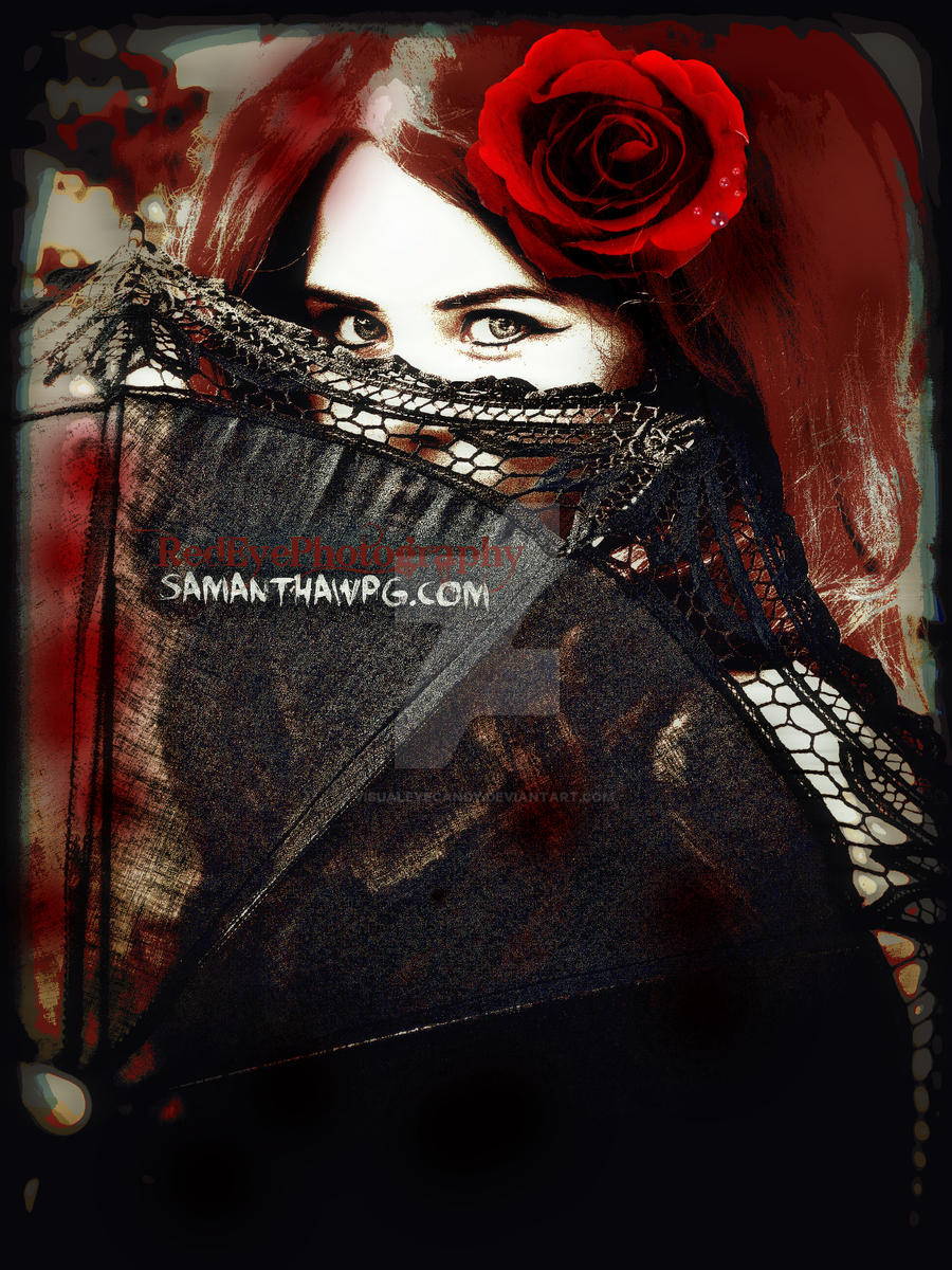 The Eyes of Miss Red Scarlet by VisualEyeCandy