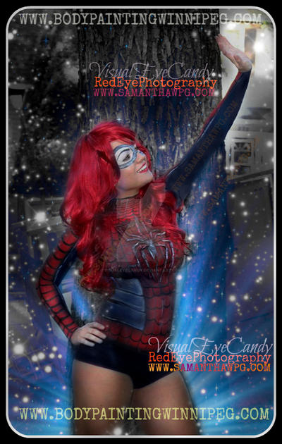 Body Painted Spider girl by SamanthaWpg.Com by VisualEyeCandy