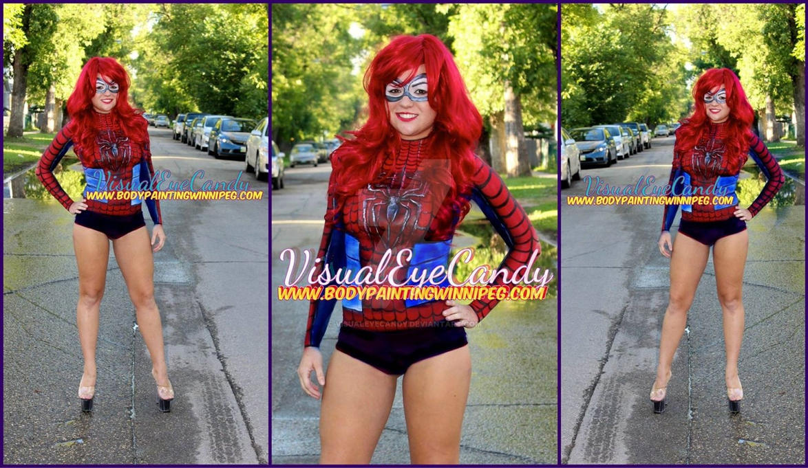 #BodyPainted #spfx #Spidergirl by samanthawpg.com by VisualEyeCandy