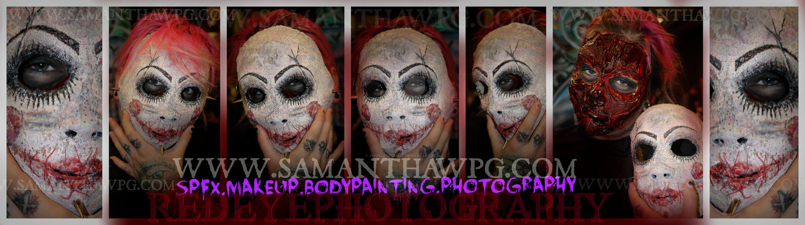 Creepy Doll Mask by VisualEyeCandy