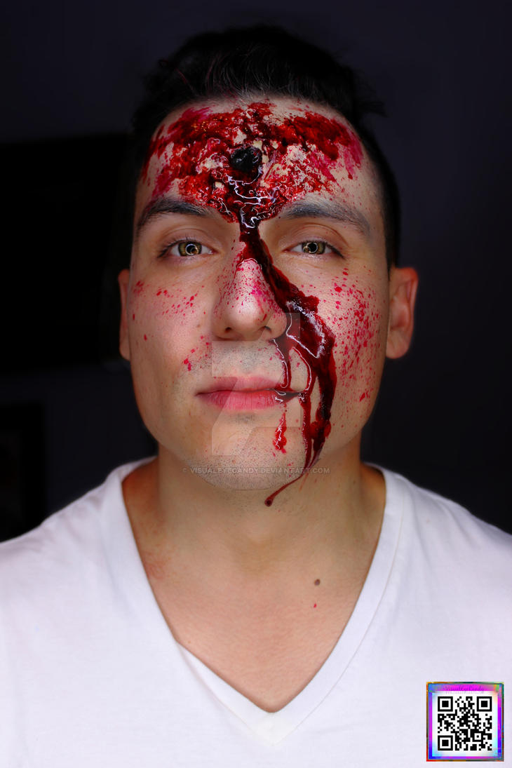 SPFX Bullet Hole Makeup By VisualEyeCandy by VisualEyeCandy