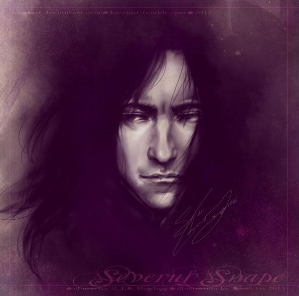 Speedpaint - Severus Snape by KaseiArt
