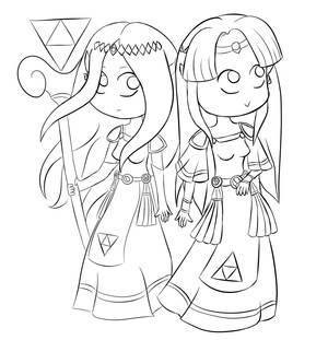 [Sketch / Doodle] Zelda and Hilda