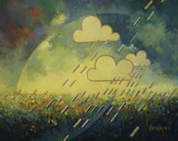 weather forecast. Rain expected