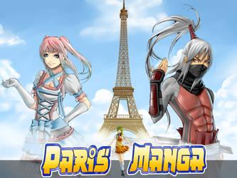 Paris Manga 2013 Eiffel Tower Illustration by Ynho-sama