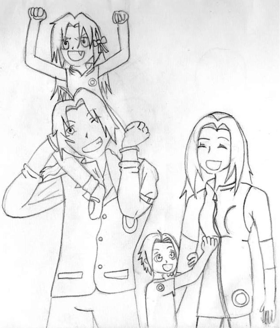 Sketch- Edsaku Family By LostxxxButterfly On DeviantArt