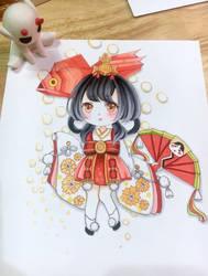 Kingyohime from Onmyoji by Meryosie