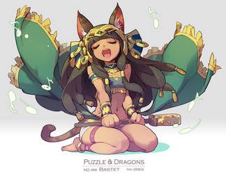 puzzle and dragons - Bastet by nnnnoooo007