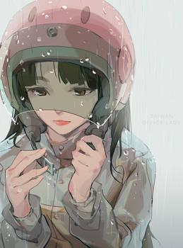Taiwan Offiec lady 06 - rain