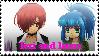 Iori and Leona Stamp by JedahDohmaPC