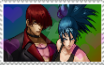 Iori and leona Stamp by JedahDohmaPC