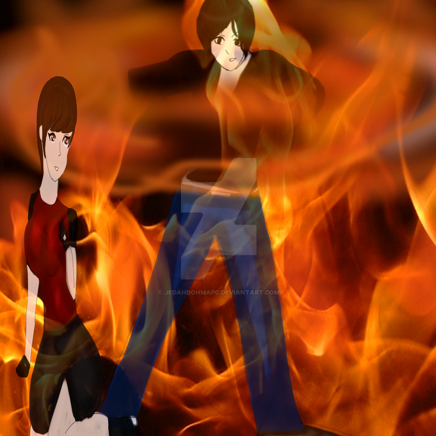 Kyo Flames with Yuki Kusanagi  by JedahDohmaPC