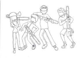 Trombones 1 by DigiOrchid