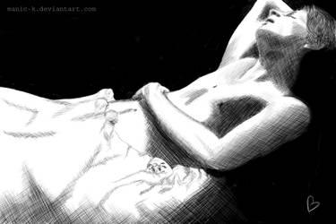 Sleeping Brian Kinney by manic-k