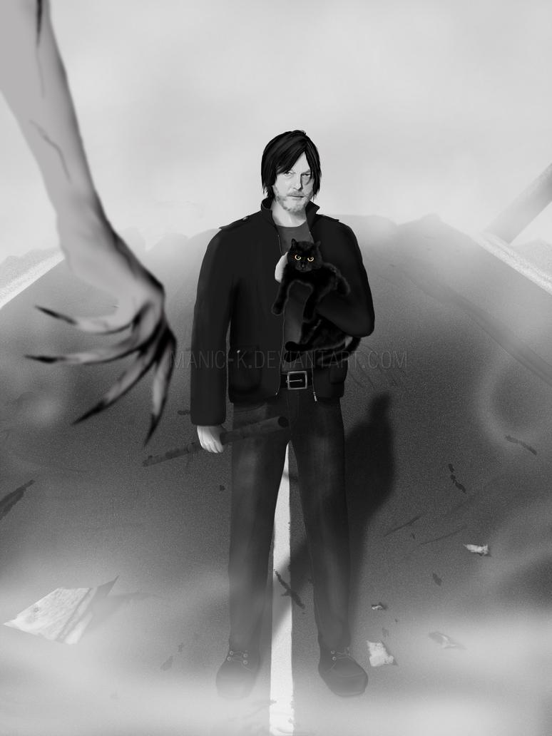 Norman Reedus - Eye in the Dark | Silent Hills by manic-k