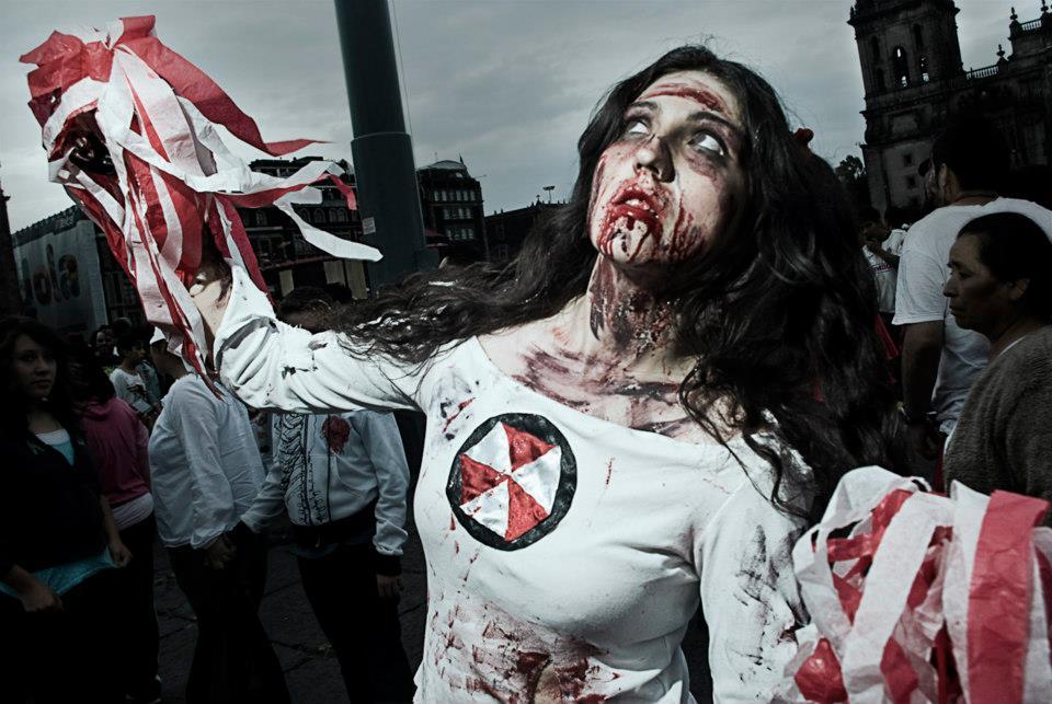 Cheerleader Zombie Cosplay Zombie Walk 2012 Mexico
