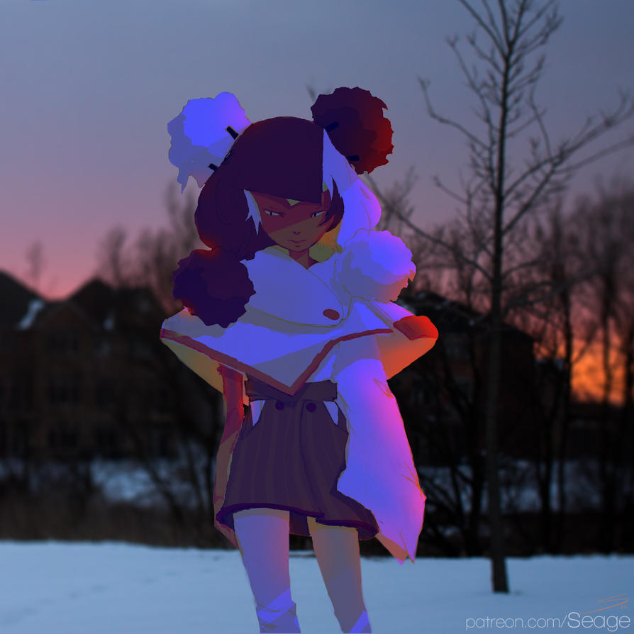 Cynn | Snowy Sunset | Demon Hiss by HowlSeage