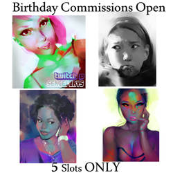 5 Slots opening | Commissions