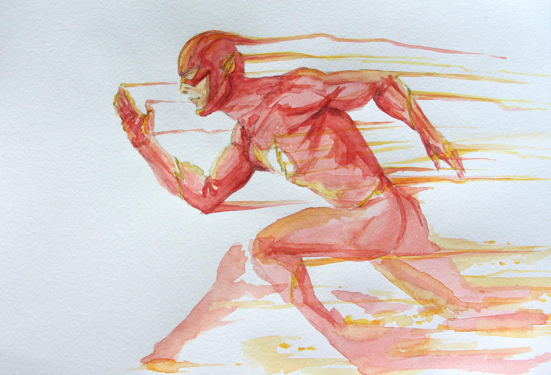 The Flash Watercolor by Azeltas