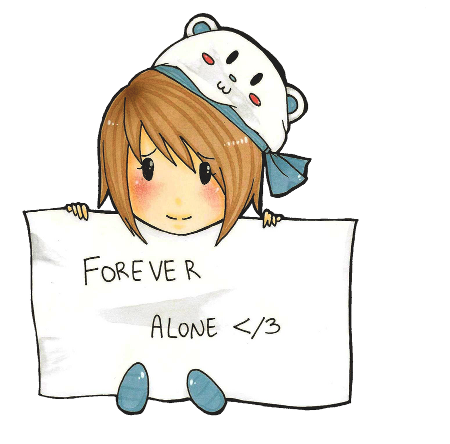 forever alone drawing by - photo #18