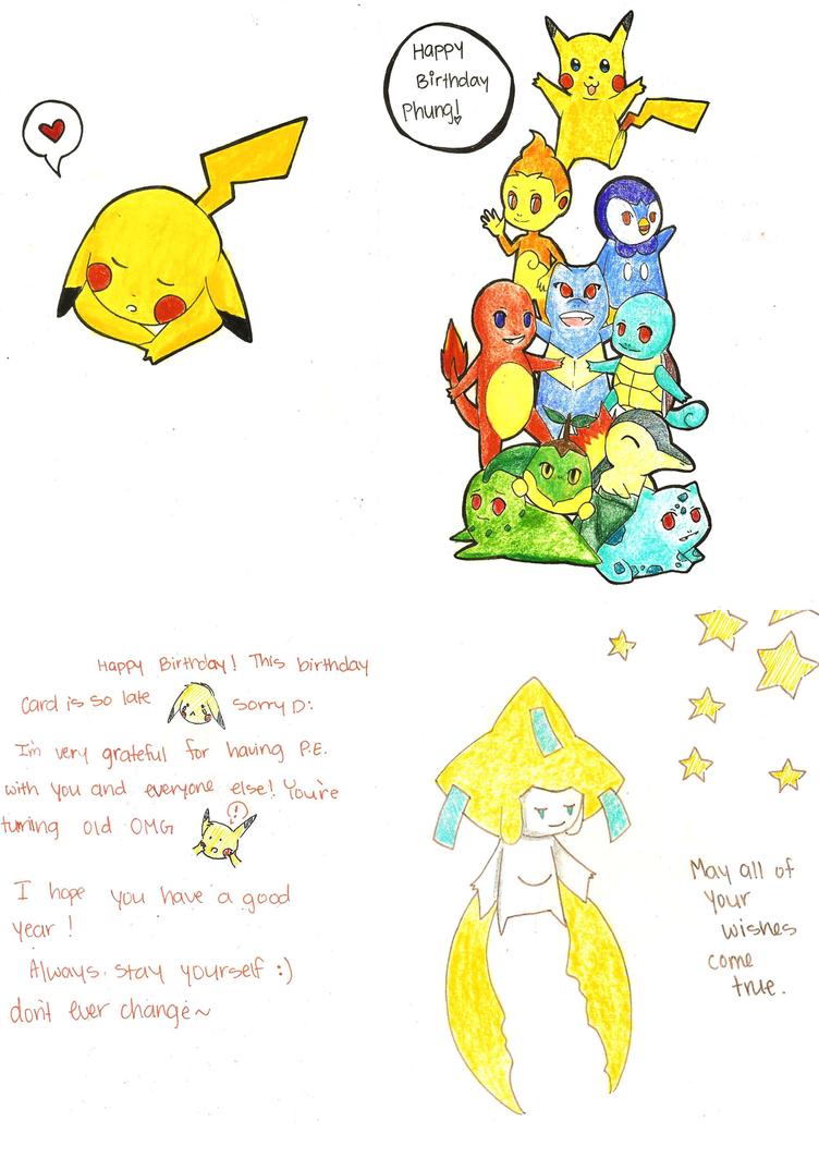 Pokemon Birthday Card by BobaMilkTea on DeviantArt – Printable Pokemon Birthday Cards