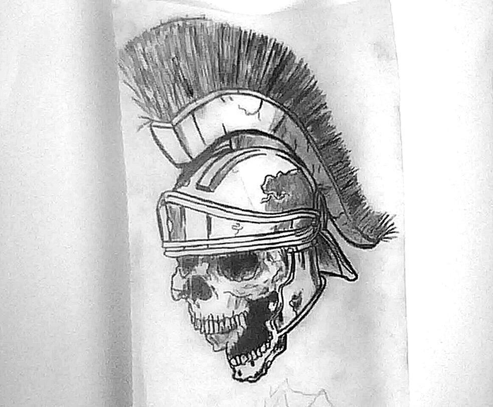 skull gladiator by onur yukselll on deviantart. Black Bedroom Furniture Sets. Home Design Ideas