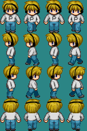 RPG Maker XP Sprite PewDiePie by Americanaooni