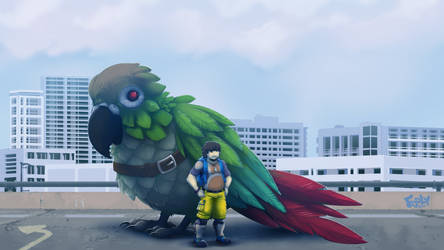 Jontron and Avian Ally by foolyguy