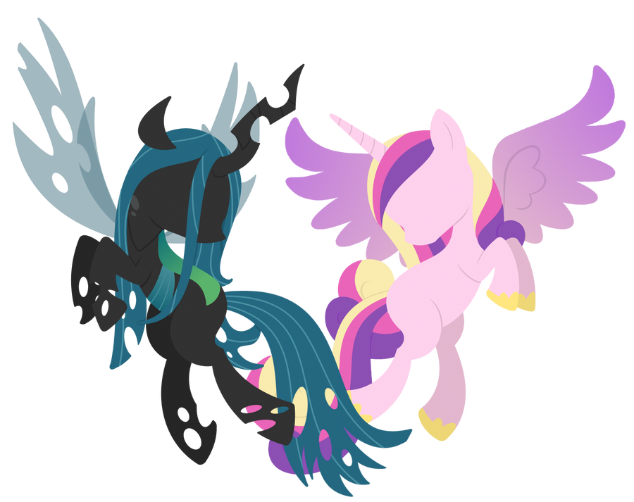 Cadence and Chrysalis by CuTTyCommando