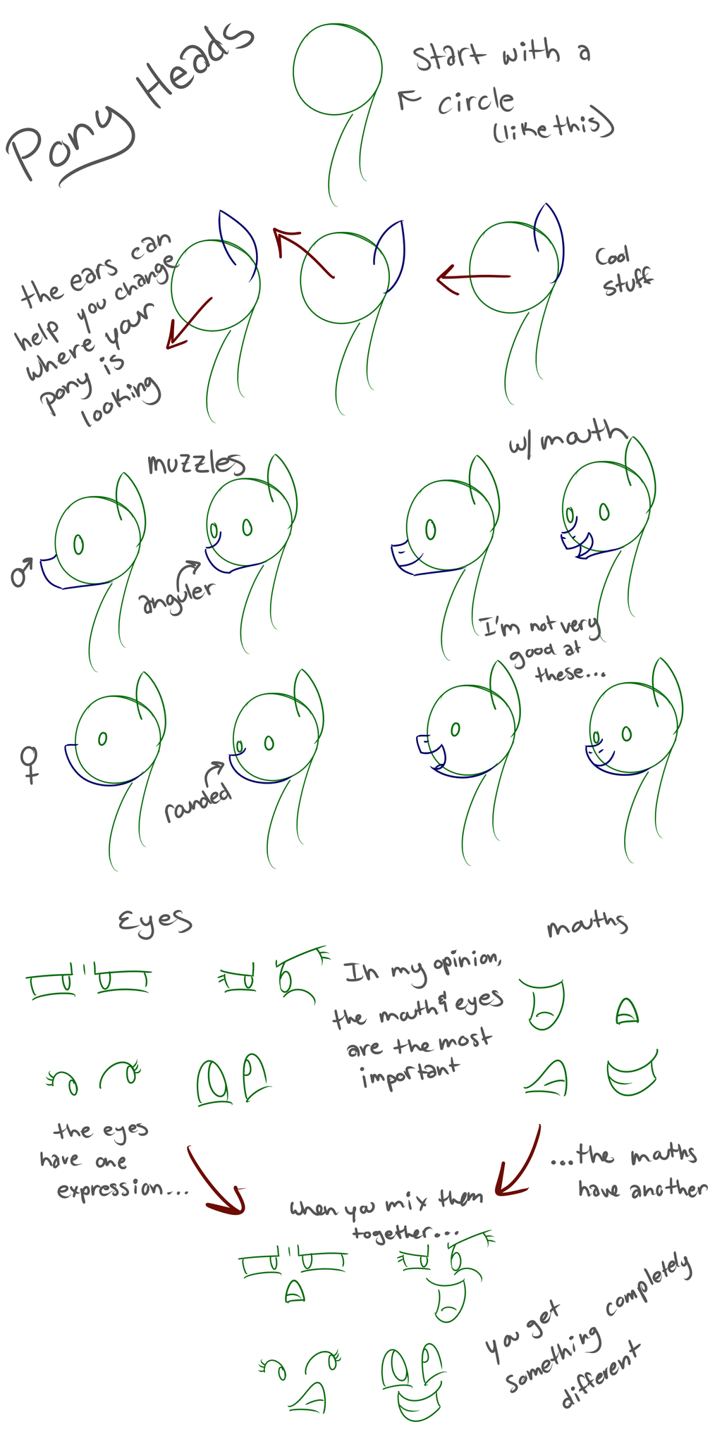 how to draw a pony head