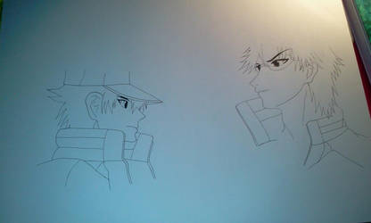 Ryoma VS Tezuka by Ranchan120