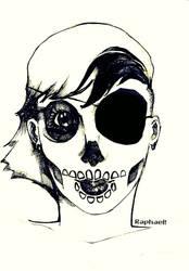 Skull girl by Raphaelxau