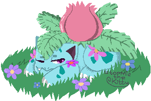 Pixel Ivysaur by Stormie-The-Kitty